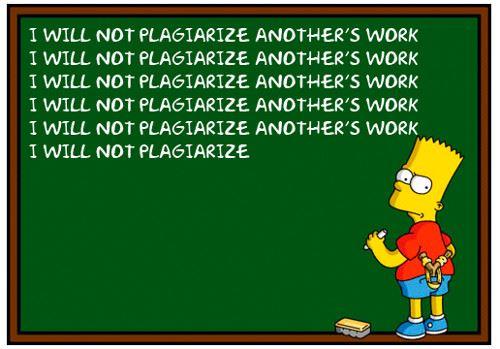 Bart Simpson Plagiarism