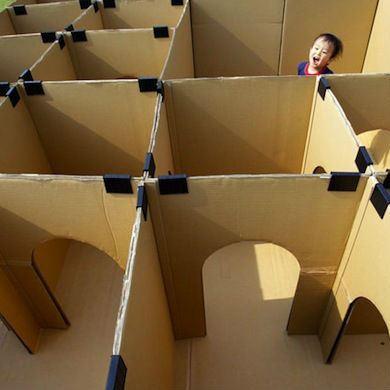 Cardboard Box Maze