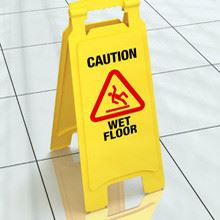 How to Successfully Steer Clear of These Common Workplace Accidents: Caution Wet Floor Sign
