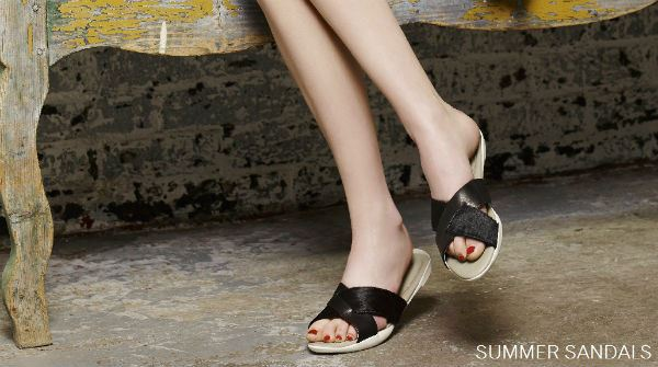 Charing Cross Black SS16 Sandals