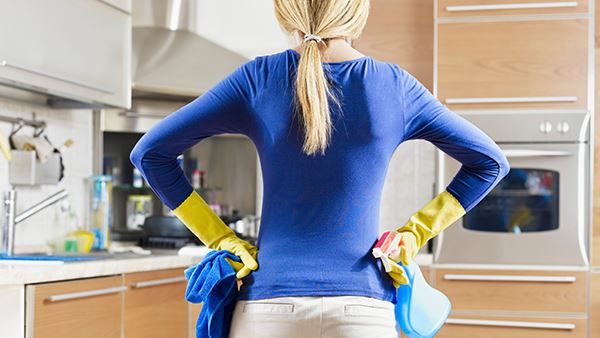 Cleaning Woman Kitchen
