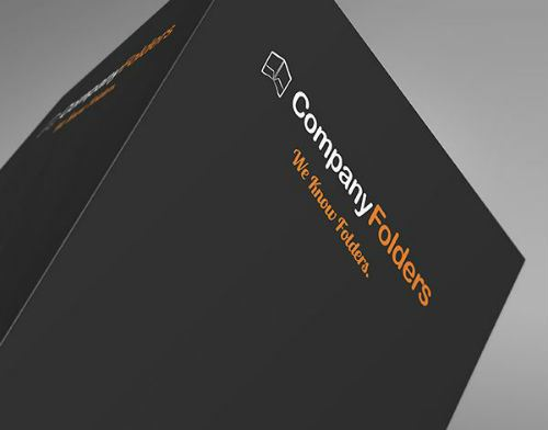 Company Folders Logo Stock