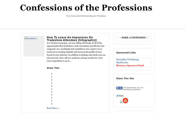 Confessions Sidebar