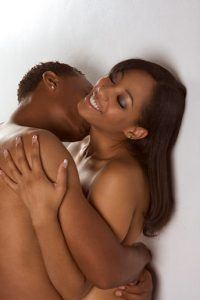 Good Sex and Orgasms Help You Sleep Better: Young couple naked Man and woman in love kissing