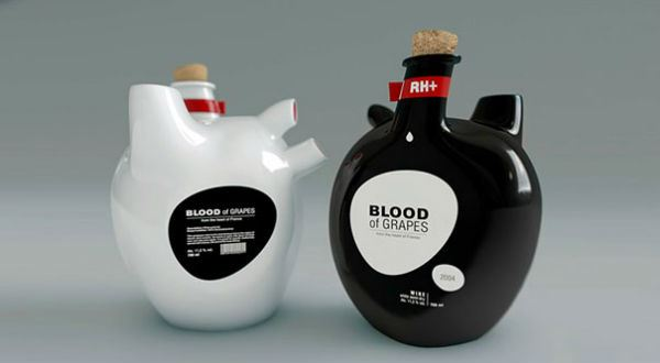 Creative Packaging Blood Wine