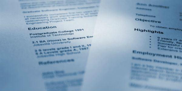 Devaluing Your CV