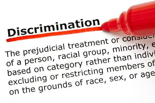 Discrimination Red