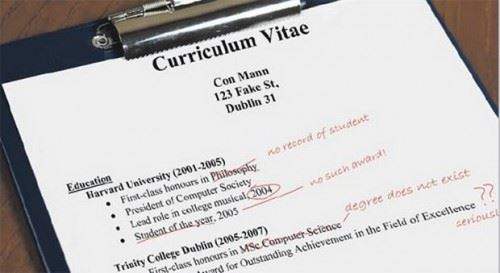 Facts About Lies In Resume [Infographic] | Confessions of the ...
