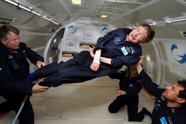 Physicist Stephen Hawking Zero Gravity NASA