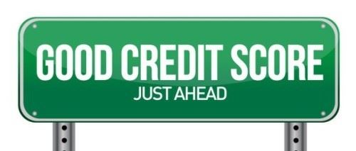 Good Credit Score Road Sign