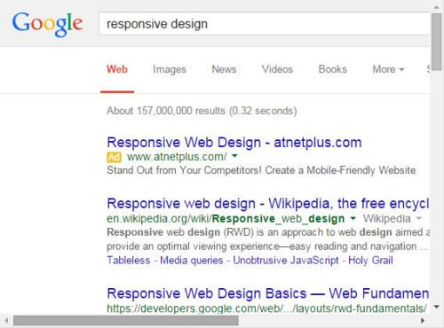 Google Unresponsive Design
