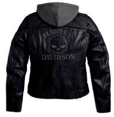 Harley Davidson Woman Jacket Back