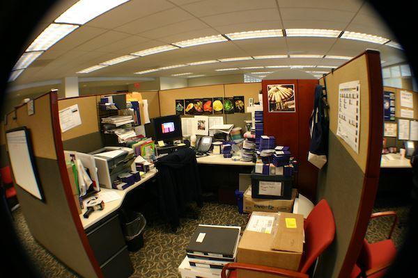 Hidden Camera Aerial Office View