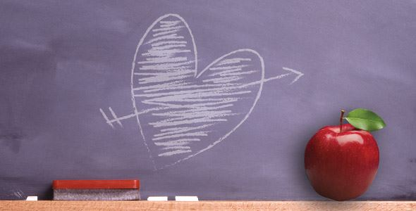 Teachers Gone Wild: Hot for Teacher Love Chalkboard