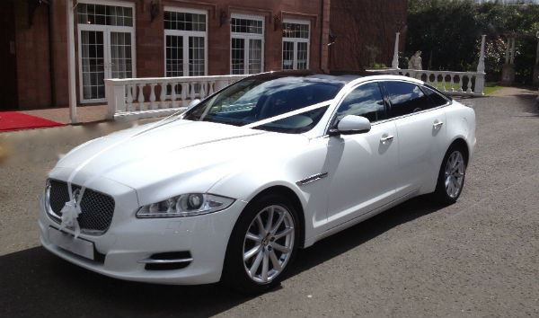 White Jaguar XJL Wedding Car