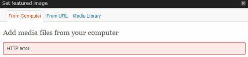 Fix WordPress Problems: HTTP Error WP