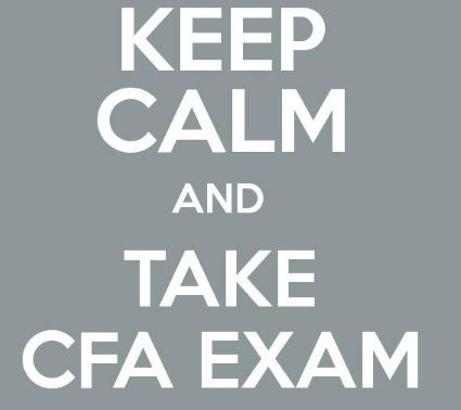 Keep Calm CFA Exam