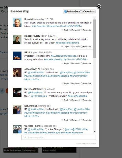 Leadership Hashtag Twitter