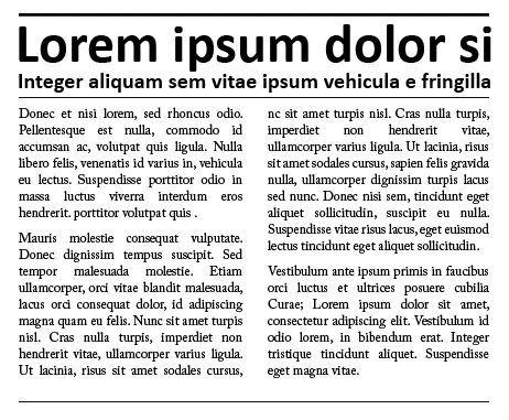 Lorem Ipsum Placeholder Text
