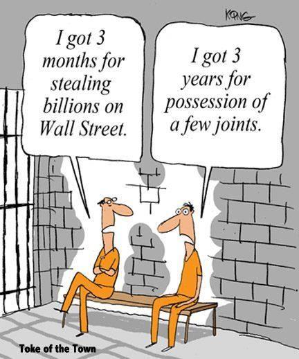 Marijuana Possession vs Wall Street