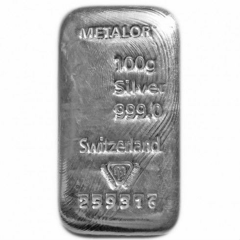 Metalor 100g Silver Bar