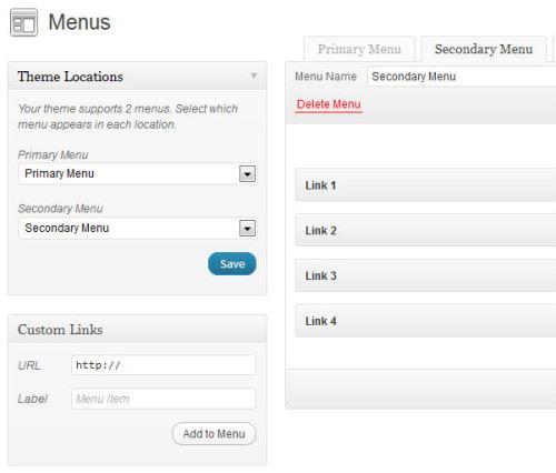 Navigation Menu WordPress