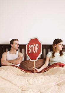 Mistakes We Make In Our Relationship: No Fight Couple in Bed