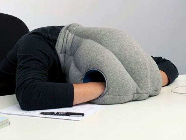 Ostrich Pillow Desk Sleep