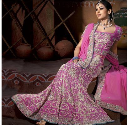 Pink Indian Wedding Dress