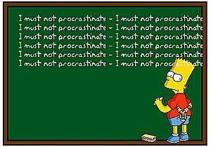 Procrastinate Bart Simpson