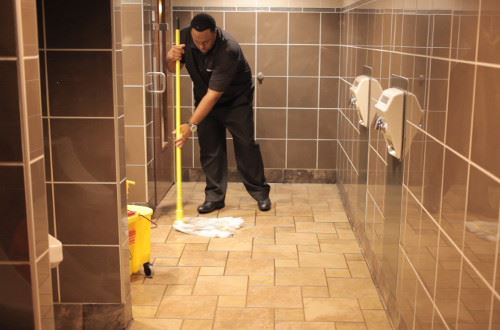 Restroom Mopping