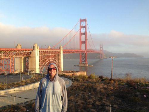 San Fransisco Golden Gate Bridge Self